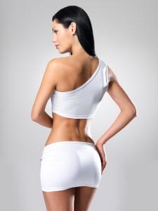 Sexy woman with beautiful slim body